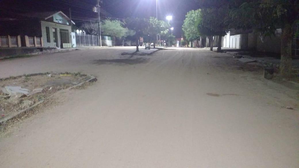 Rua em que moto foi roubada em Major Izidoro